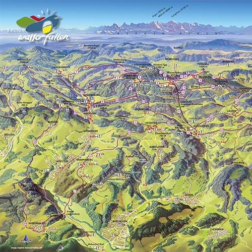 region-wasserfallen_vogelschau-karte